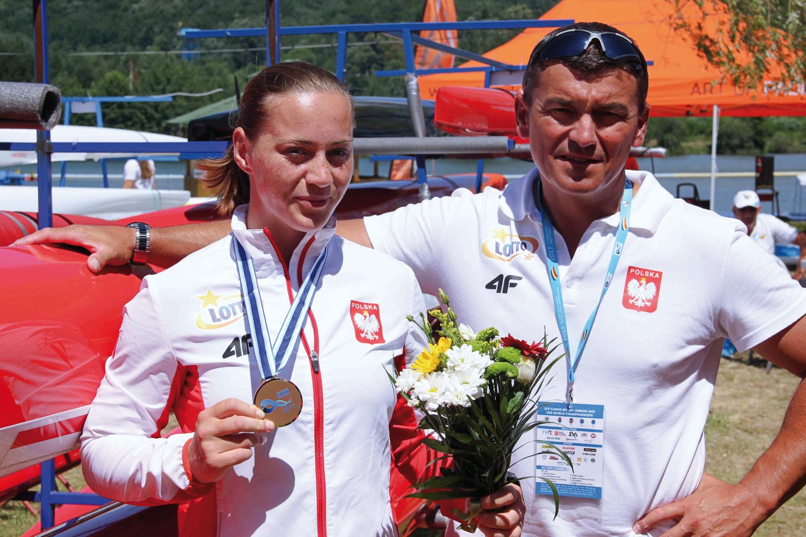 Dorota Borowska z trenerem Mariuszem Szałkowskim